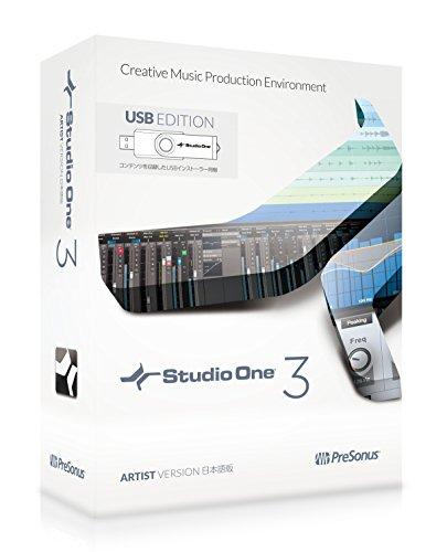 "PreSonus プリソーナス 音楽制作ソフト ""Studio One 3 Artist日本語版 (USB edition)"