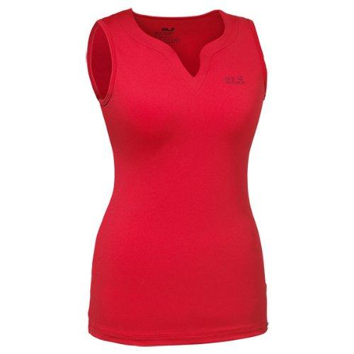 Jack Wolfskin Damen Shirt Basic Top Women, Red Fire, XXL, 1802551-2590006