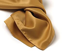 Solid Series Square Silk Scarf - Vegas Gold