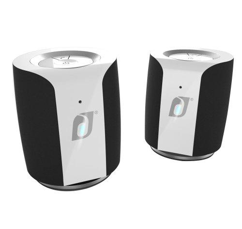 Damson Jet Portable Wireless Stereo Speaker Pair (Black And White)