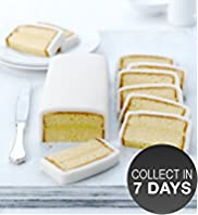 Lemon Sponge Cake Cutting Bar