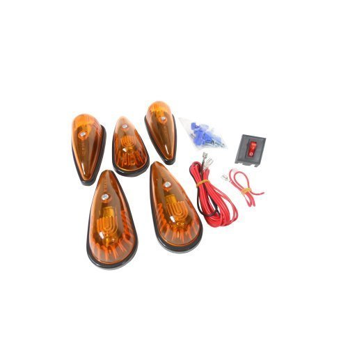 HaulMaaster Teardrop Amber Roof Light Truck Cab Light Complete Install Kit (Teardrop Cab Lights compare prices)