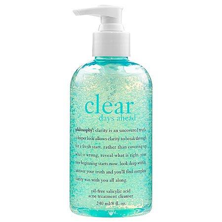 Philosophy Philosophy Clear Days Ahead Oil-Free Salicylic Acid Acne Treatment Cleanser, 8 Ounce