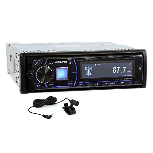 Alpine Single-Din Bluetooth Car Stereo with HD Radio, Premium LCD Display and SiriusXM Ready