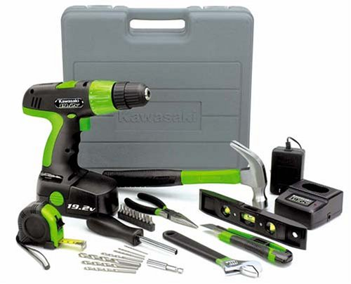 Buy Kawasaki 840097 Black 19.2v 30pc Cordless Drill and Tool Set