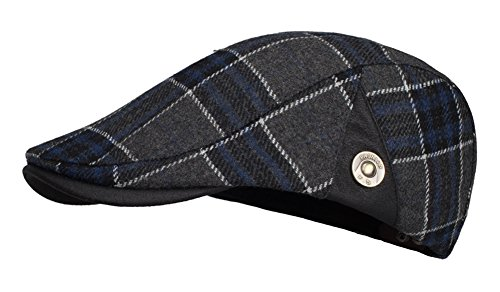 IL Caldo Adult Peaked Stripe lattice Newsboy Cap Beret Hat,Navy blue (Peaked Cap Women compare prices)