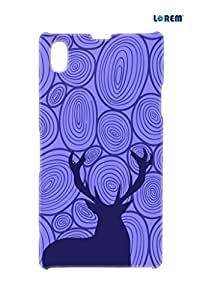 Lorem Back Cover For Sony Xperia Z1 (L39H)-Purple-L24009