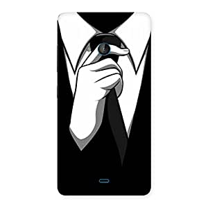 Impressive Knotting Tie Multicolor Back Case Cover for Lumia 540
