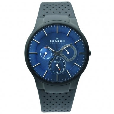 Skagen Denmark Mens Watch Blue & Black Multifunction #809XLTBLN