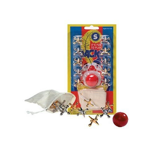 Metal Jacks and Rubber Ball Set