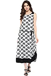 Akkriti by Pantaloons Women's A-Line Dress ( 205000005637794, Black, Medium)