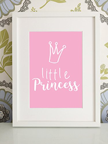 olive-maybelle-print-wall-art-quote-stylish-image-little-princess-pink-crown-bedroom-room-picture-fr