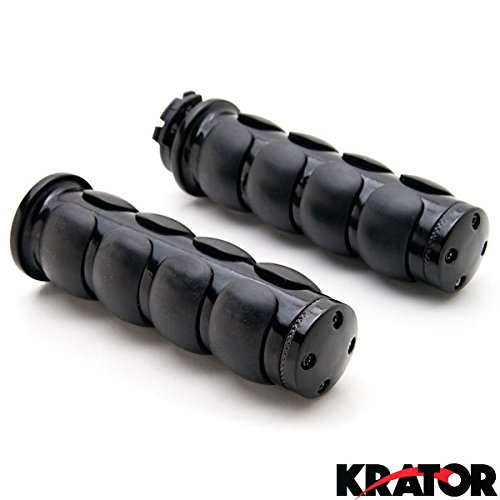 Krator® Motorcycle Hand Grips 1 Inch Handlebar Bars Pair For Kawasaki Vulcan Classic Custom 900 (Kawasaki 900 Vulcan Custom compare prices)