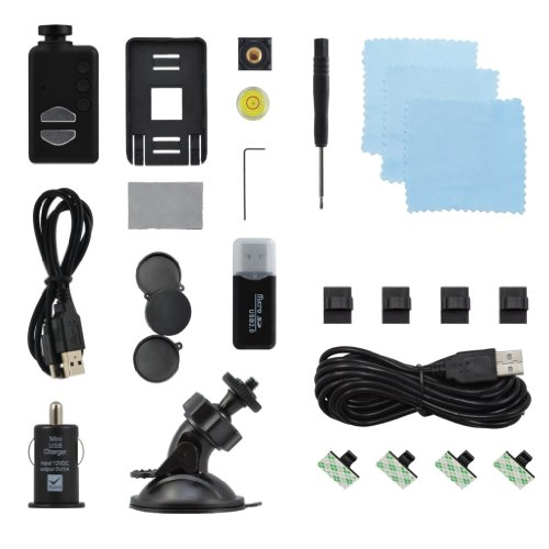 Wide Angle Mobius ActionCam 1080p HD Camera With Dash Cam Kit.