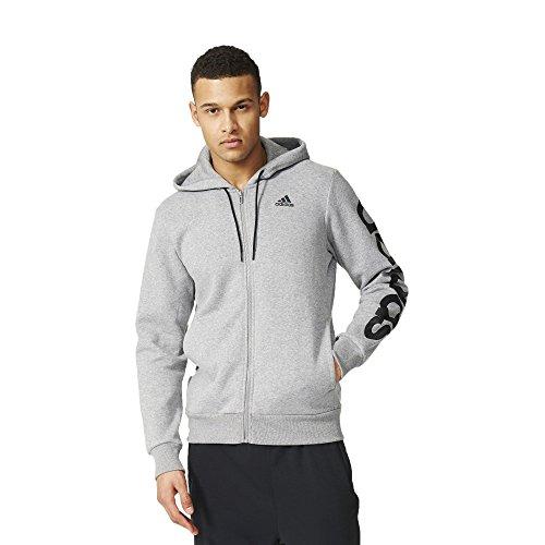 adidas Lin FZ Hood B felpa hooded hoodie zip uomo