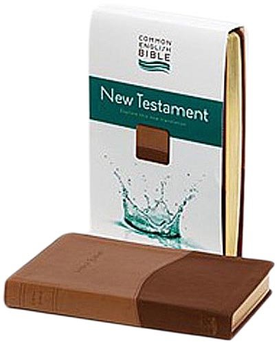 CEB Common English Bible New Testament DecoTone Tan/Chocolate Brown