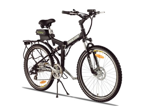 X-Treme Scooters Folding Electric Mountain E-Bike, Black