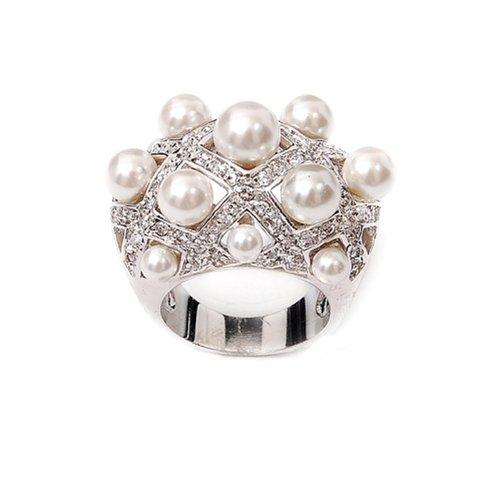 Fashion Trendy Pearl Ring #021565