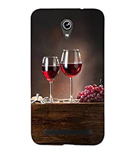 Grapes and Wine 3D Hard Polycarbonate Designer Back Case Cover for Asus Zenfone Go ZC500TG (5 Inches)