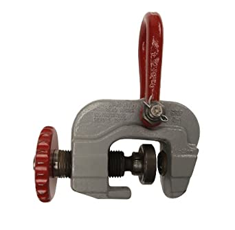 """Campbell 6421001 Horizontal to Vertical Screw Adjusted Cam Plate Lifting Clamp, 0 - 2"""" Grip, 3 ton Working Load Limit"""