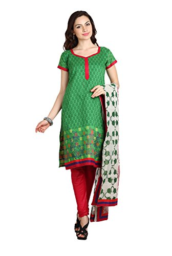 Aryahi Women's Poly Cotton Dress Material (70294CVAR_Green ...
