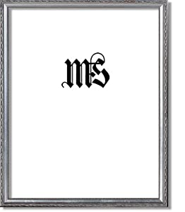 Imperial Frames 11 by 14-Inch/14 by 11-Inch Picture/Photo/Poster Frame, Wood Antique Silver Finish