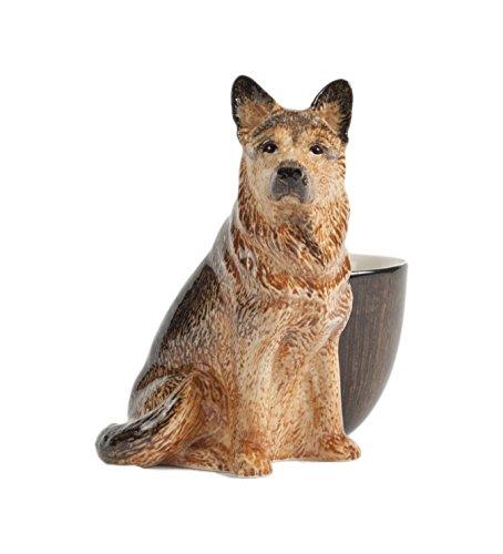 Quail Ceramics Eierbecher mit Deutscher-Schäferhund-Figur