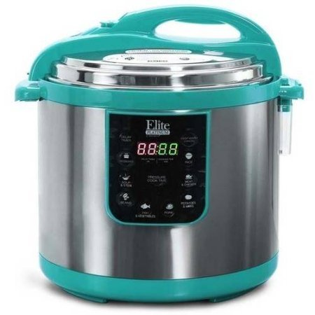 Elite Platinum Super-sized 10 Quart 8-In-1 Multi Functional Electric Pressure Cooker, Teal (Electric Pressure Fryer compare prices)