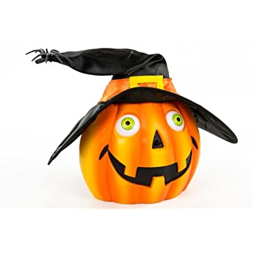 Animated Jack-O-Lantern with Witch Hat
