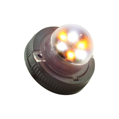 Lamphus Snakeeye Ii-6 Emergency Vehicle Snowplow Surface Mount 6W Led Hide-Away Strobe Warning Light ( Other Color Available ) - Amber White