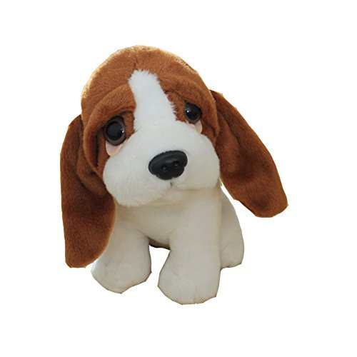 "Basset Hound 8"" Plush Dog Toy"