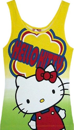 Buy Hello Kitty – Yellow Rainbow Tank Top for women