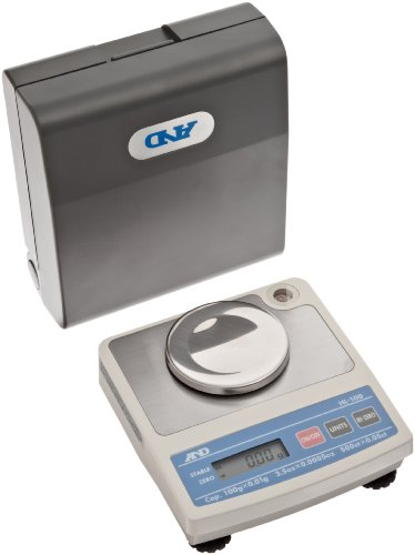 A&D Engineering Hl-100 Hl Series Compact Scale Electronic Toploading Balance With Lcd Display, 70Mm Pan, 0.03G Linearity, 100G Capacity, 0.02G Readability