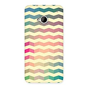Delighted Seamless ZigZag Multicolor Back Case Cover for HTC One M7