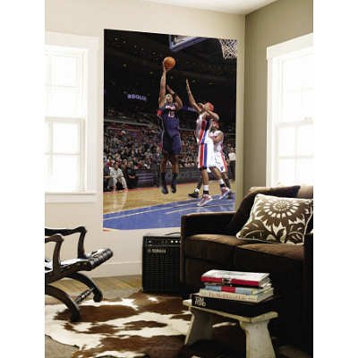 (48x72) Allen Einstein Atlanta Hawks v Detroit Pistons: Al Horford Charlie Villanueva Huge Wall Mural