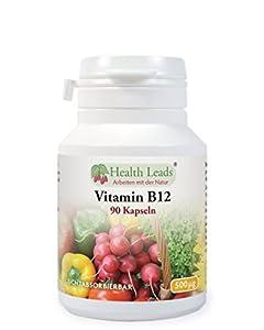 Vitamin B12 (Methylcobalamin) 500mcg 90 Kapseln/Tabletten (Ohne Magnesiumstearat!)