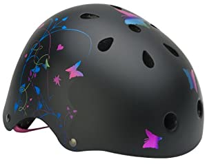 Mongoose Filagree Youth Street Helmet  (Black, Girls)