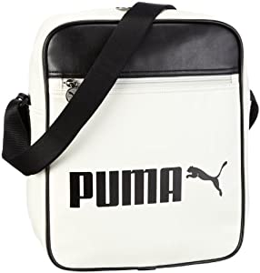 PUMA Campus Flight Bag, whisper white-black, 10 liters, 069919 05