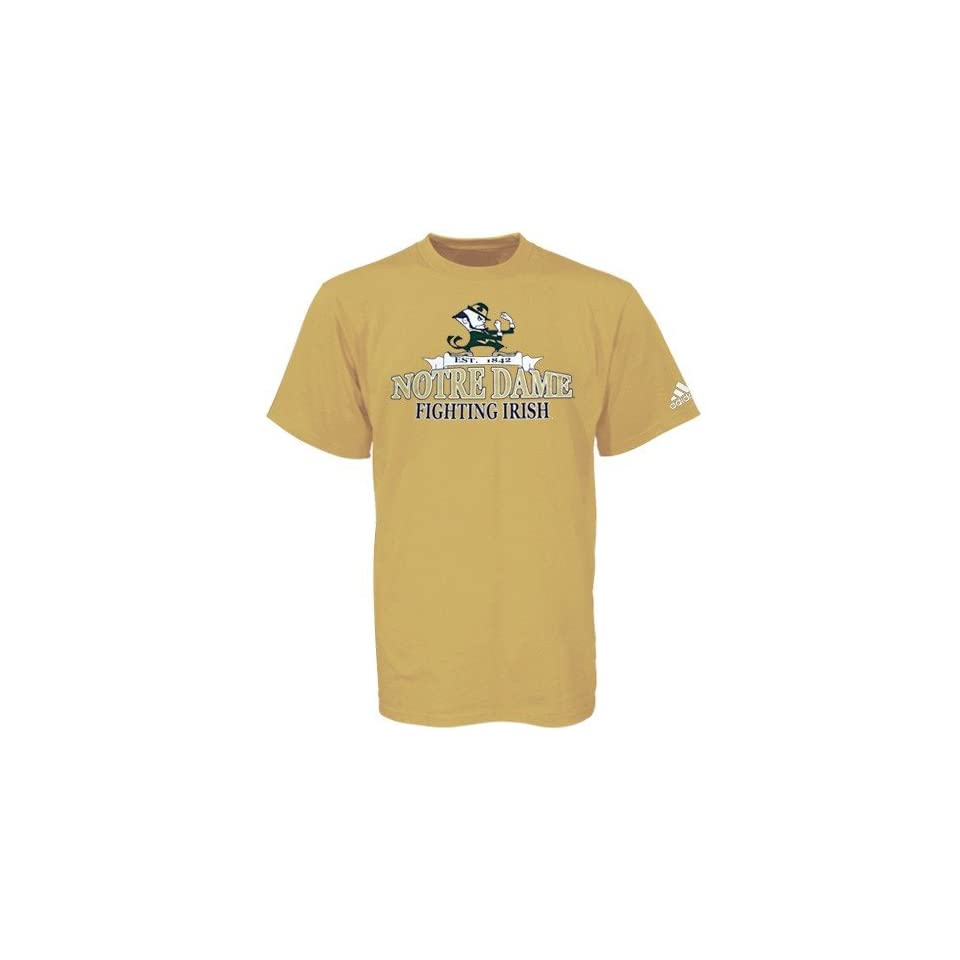 Adidas Notre Dame Fighting Irish Gold Bracket Buster T shirt