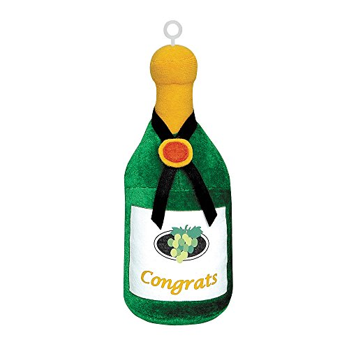 Plush Congrats Champagne Bottle Balloon Weight - 1