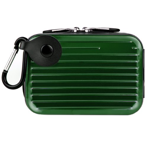 Forest Green Pascal Edition Metallic Camera Case for Samsung DV300F / MV800 / ST93 / ST90 / ST65 / ST30 / ST95 / ST700 / PL170 / PL210 / PL120 / SH100 / WB700 / PL200 / TL350 / WB2000 / AQ100 / WP10 / TL210 / PL150 / TL205 / PL100 / ST80 / ST100 / TL225 /