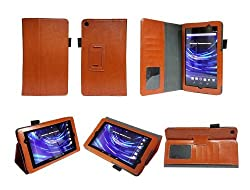 Bear Motion Premium PU Leather Case Cover with Stand & Stylus Loop (Stylus NOT included) for Google Nexus 7 FHD tablet 2013 Version Nexus 7 2 II 2.0 Second Generation (Brown)