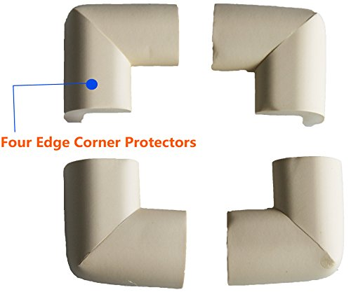 Countertop Edge Bumper : Edge Protectors (6.5ft) with 4 Corner Cushions for Baby Safety Bumper ...