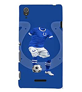 EPICCASE football fool Mobile Back Case Cover For Sony Xperia T3 (Designer Case)