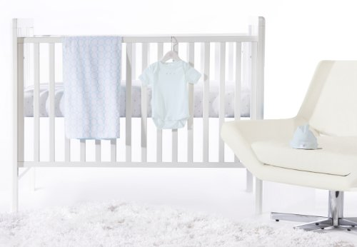 Swaddledesigns 4 Piece Newborn Crib Bedding Set, Pastel Blue, 0-3 Months