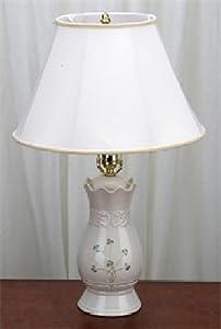 Belleek Tara Lamp and Shade with 60 Watt Fitting, 22-3/4-1/2-Inch Tall