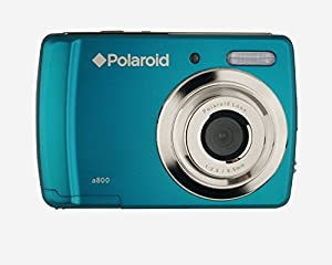 Polaroid CAA-800QC 8 MP Digital Camera CMOS Sensor with 3x Optical Zoom, Turquoise (Factory Refurbished)