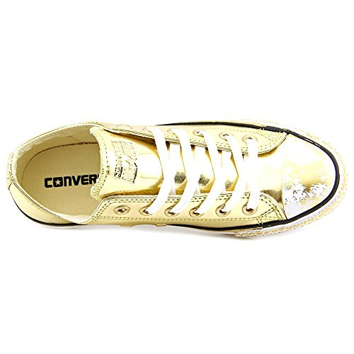 Converse Womens Chrome Gold All Star Low Sneakers-UK 8