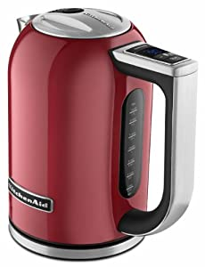 1.7 Liter Electric Kettle with LED display - Empire Red by KitchenAid