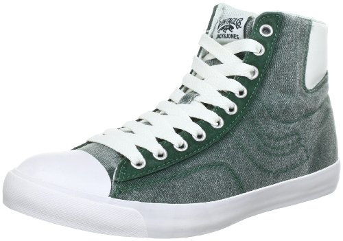 JACK & JONES JJ New York Basket Hi High Top Mens multi-coloured Mehrfarbig (DARK GREEN) Size: 10 (44 EU)